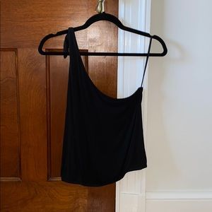 Soft and sexy one shoulder tank
